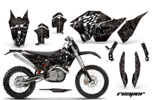 Load image into Gallery viewer, Graphics Kit Decal Wrap + # Plates For KTM SX/XCR-W/EXC/XC/XC-W/XCF-W 2007-2011 REAPER BLACK-atv motorcycle utv parts accessories gear helmets jackets gloves pantsAll Terrain Depot