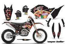 Load image into Gallery viewer, Graphics Kit Decal Wrap + # Plates For KTM SX/XCR-W/EXC/XC/XC-W/XCF-W 2007-2011 VEGAS BLACK-atv motorcycle utv parts accessories gear helmets jackets gloves pantsAll Terrain Depot