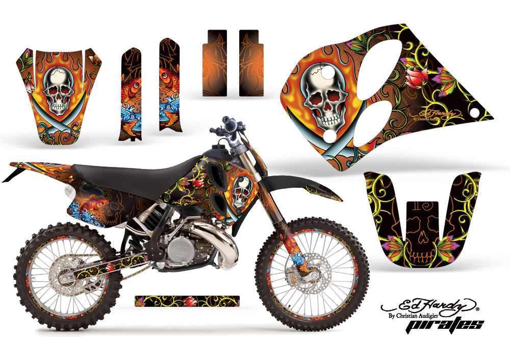 Graphics Kit Decal Sticker Wrap + # Plates For KTM SX/XC/EXC/LC2 1993-1997 EDHP ORANGE-atv motorcycle utv parts accessories gear helmets jackets gloves pantsAll Terrain Depot