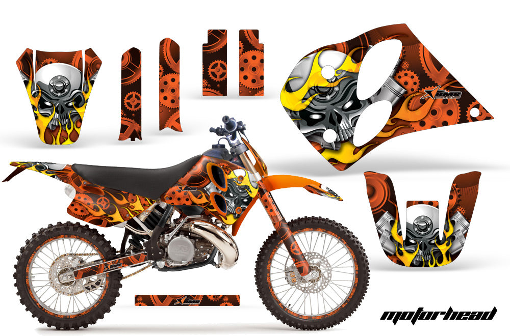Graphics Kit Decal Sticker Wrap + # Plates For KTM SX/XC/EXC/LC2 1993-1997 MOTORHEAD ORANGE-atv motorcycle utv parts accessories gear helmets jackets gloves pantsAll Terrain Depot