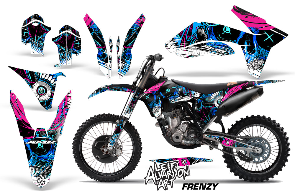 Dirt Bike Decal Graphics Kit Wrap For KTM SX/SX-F/XC/EXC/XFC-W 2011-2013 FRENZY BLUE-atv motorcycle utv parts accessories gear helmets jackets gloves pantsAll Terrain Depot
