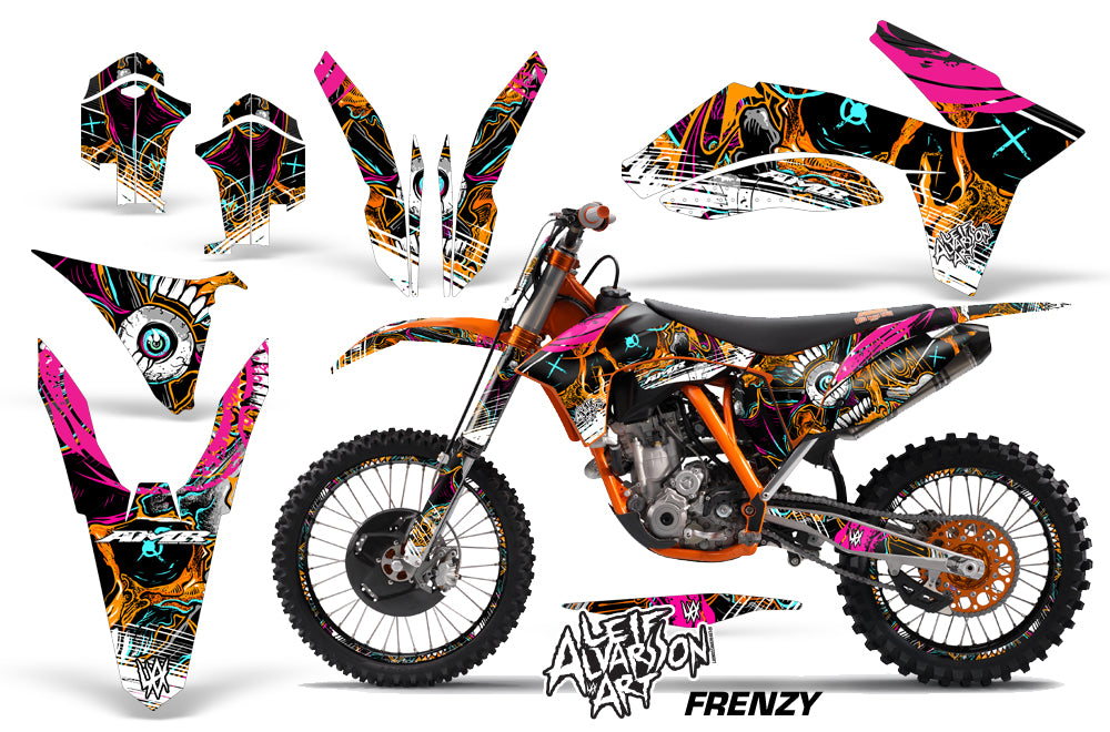 Graphics Kit Decal Sticker Wrap + # Plates For KTM SX/SX-F/XC/EXC/XFC-W 2011-2013 FRENZY ORANGE-atv motorcycle utv parts accessories gear helmets jackets gloves pantsAll Terrain Depot