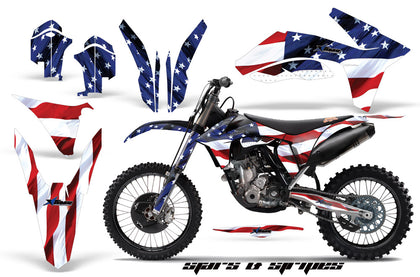 Graphics Kit Decal Sticker Wrap + # Plates For KTM SX/SX-F/XC/EXC/XFC-W 2011-2013 USA FLAG-atv motorcycle utv parts accessories gear helmets jackets gloves pantsAll Terrain Depot