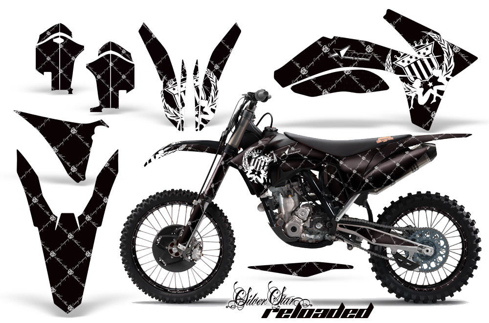 Graphics Kit Decal Sticker Wrap + # Plates For KTM SX/SX-F/XC/EXC/XFC-W 2011-2013 RELOADED WHITE BLACK-atv motorcycle utv parts accessories gear helmets jackets gloves pantsAll Terrain Depot