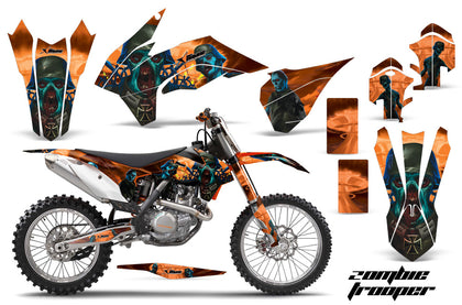 Graphics Kit Decal Wrap For KTM SX/SXF/XCF/EXC/TC-F/XC/XCF-W 2013-2016 ZOMBIE ORANGE