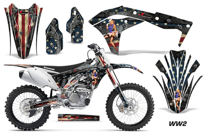 Dirt Bike Graphics Kit Decal Sticker Wrap For Kawasaki KXF250 2017-2018 WW2 BOMBER