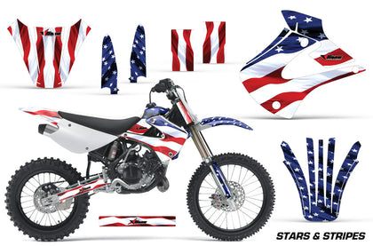 Dirt Bike Graphics Kit Decal Wrap For Kawasaki KX85 KX100 2001-2013 USA FLAG
