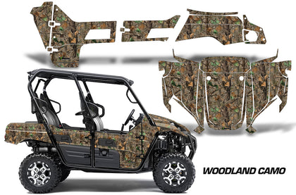 UTV Graphics Kit Decal Sticker Wrap For Kawasaki Teryx4 800 2016-2018 WOODLAND CAMO