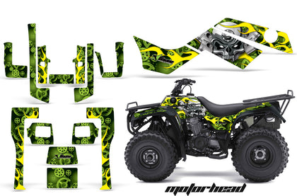 ATV Graphics Kit Quad Decal Sticker Wrap For Kawasaki Bayou 250 2003-2011 MOTORHEAD GREEN