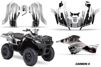 ATV Graphics Kit Decal Sticker Wrap For Suzuki Quad 500 AXi 2013-2015 CARBONX SILVER