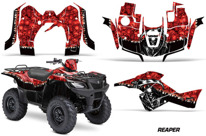 ATV Graphics Kit Decal Sticker Wrap For Suzuki Quad 500 AXi 2013-2015 REAPER RED