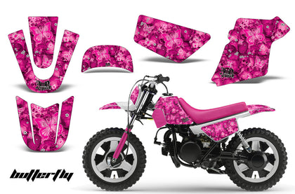 Dirt Bike Graphics Kit MX Decal Wrap For Yamaha PW50 PW 50 1990-2019 BUTTERFLIES PINK