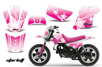 Dirt Bike Graphics Kit MX Decal Wrap For Yamaha PW50 PW 50 1990-2019 STARLETT PINK
