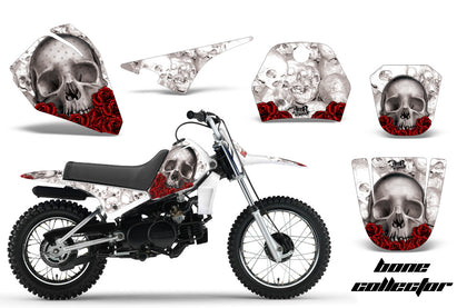 Dirt Bike Decal Graphic Kit Sticker Wrap For Yamaha PW80 PW 80 1996-2006 BONES WHITE