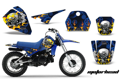 Dirt Bike Decal Graphic Kit Sticker Wrap For Yamaha PW80 PW 80 1996-2006 MOTORHEAD BLUE