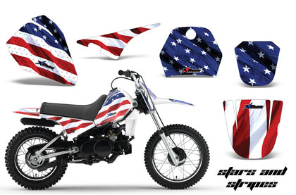 Dirt Bike Decal Graphic Kit Sticker Wrap For Yamaha PW80 PW 80 1996-2006 USA FLAG