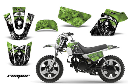 Dirt Bike Graphics Kit MX Decal Wrap For Yamaha PW50 PW 50 1990-2019 REAPER GREEN