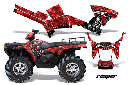 ATV Graphics Kit Decal Sticker Wrap For Polaris Sportsman 500/800 2005-2010 REAPER RED