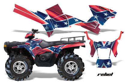 ATV Graphics Kit Decal Sticker Wrap For Polaris Sportsman 500/800 2005-2010 REBEL
