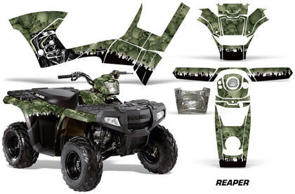 ATV Graphics Kit Decal Sticker Wrap For Polaris Sportsman 90/110 2007-2016 REAPER GREEN