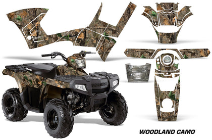 ATV Graphics Kit Decal Sticker Wrap For Polaris Sportsman 90/110 2007-2016 WOODLAND CAMO