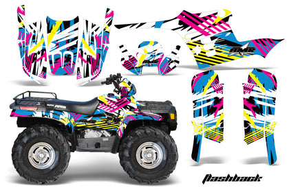 ATV Graphics Kit Decal Wrap For Polaris Sportsman 400 500 1995-2004 FLASHBACK