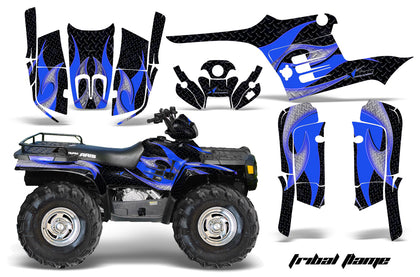 ATV Graphics Kit Decal Wrap For Polaris Sportsman 400 500 1995-2004 TRIBAL BLUE BLACK