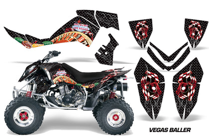 ATV Graphics Kit Quad Decal Wrap For Polaris Outlaw 500 525 2006-2008 VEGAS BLACK