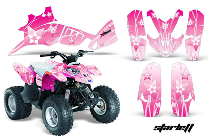 ATV Graphics Kit Quad Decal Wrap For Polaris Predator 90 2003-2007 STARLETT PINK