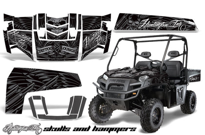 UTV Decal Graphics Kit Wrap For Polaris Ranger XP 500/700 2009-2014 HISH SILVER