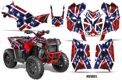 ATV Graphics Kit Decal Wrap For Polaris Scrambler 850XP 1000XP 2013-2018 REBEL