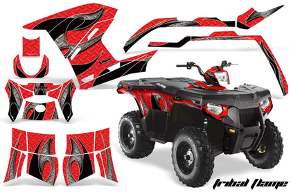Honda Foreman 420 Rancher Rubicon 500 Headlight Graphics Thin Red Line Flag