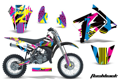 Dirt Bike Graphics Kit Decal Sticker Wrap For Suzuki RM85 2002-2016 FLASHBACK