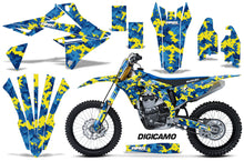 Load image into Gallery viewer, Graphics Kit Decal Sticker Wrap + # Plates For Suzuki RMZ450 2018+ DIGICAMO BLUE YELLOW-atv motorcycle utv parts accessories gear helmets jackets gloves pantsAll Terrain Depot