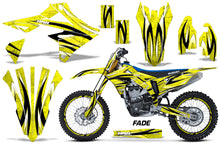 Load image into Gallery viewer, Graphics Kit Decal Sticker Wrap + # Plates For Suzuki RMZ450 2018+ FADE YELLOW-atv motorcycle utv parts accessories gear helmets jackets gloves pantsAll Terrain Depot
