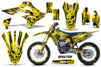 Graphics Kit Decal Sticker Wrap + # Plates For Suzuki RMZ450 2018+ SPECTER YELLOW