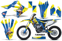 Load image into Gallery viewer, Dirt Bike Graphics Kit Decal Sticker Wrap For Suzuki RMZ450 2018+ TBOMBER YELLOW BLUE-atv motorcycle utv parts accessories gear helmets jackets gloves pantsAll Terrain Depot