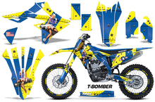 Load image into Gallery viewer, Graphics Kit Decal Sticker Wrap + # Plates For Suzuki RMZ450 2018+ TBOMBER YELLOW BLUE-atv motorcycle utv parts accessories gear helmets jackets gloves pantsAll Terrain Depot
