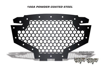 1 Piece Steel Grille for Polaris RZR 900-800 - HEX
