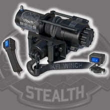 Load image into Gallery viewer, Polaris Sportsman 400 2011-14 Winch and Mount Kit KFI SE35 Stealth - Allterraindepot
