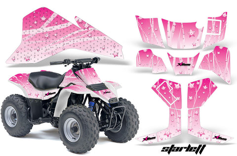 ATV Graphics Kit Quad Decal Sticker Wrap For Suzuki LT80 1987-2006 STARLETT  PINK