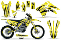 Graphics Kit Decal Sticker Wrap + # Plates For Suzuki RMX450Z 2009-2017 FADE YELLOW