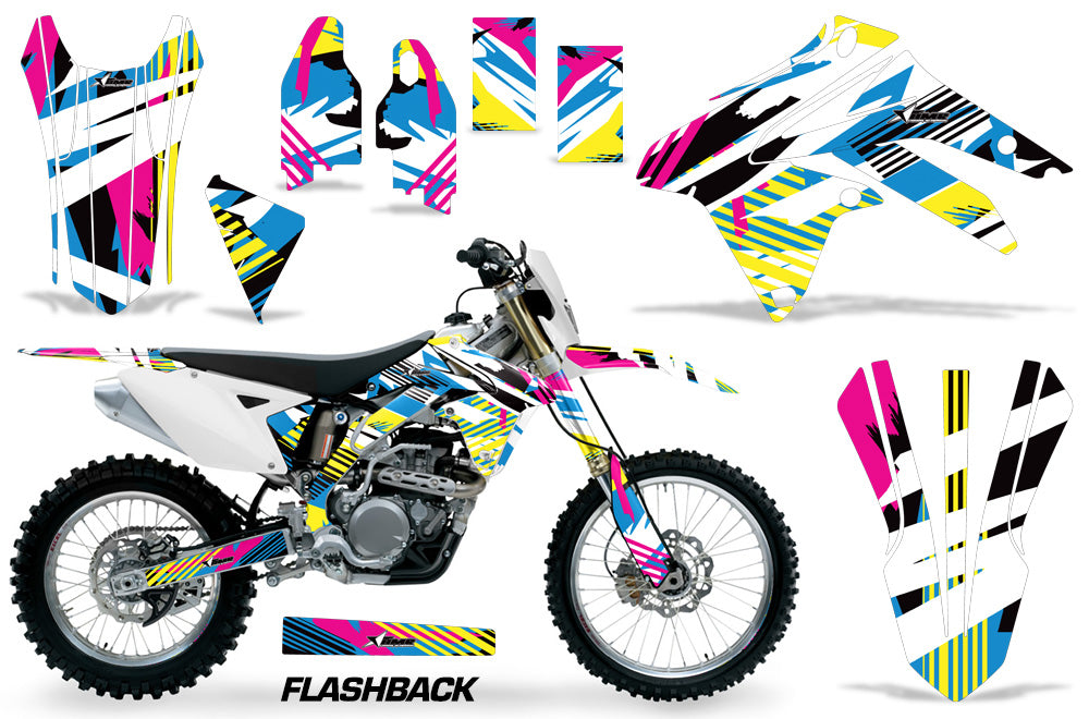 Dirt Bike Graphic Kit Decal Sticker Wrap For Suzuki RMX450Z 2009-2017 FLASHBACK