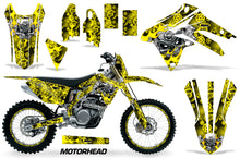 Load image into Gallery viewer, Graphics Kit Decal Sticker Wrap + # Plates For Suzuki RMX450Z 2009-2017 MOTORHEAD YELLOW-atv motorcycle utv parts accessories gear helmets jackets gloves pantsAll Terrain Depot