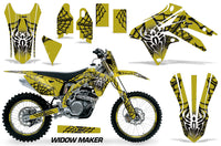 Graphics Kit Decal Sticker Wrap + # Plates For Suzuki RMX450Z 2009-2017 WIDOW BLACK YELLOW
