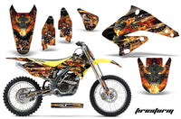 Graphics Kit Decal Sticker Wrap + # Plates For Suzuki RMZ250 2004-2006 FIRESTORM BLACK