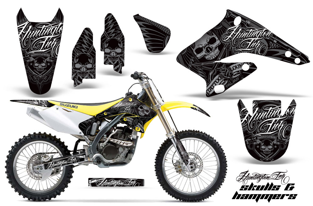 Dirt Bike Graphics Kit Decal Sticker Wrap For Suzuki
