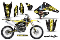 Dirt Bike Graphics Kit Decal Sticker Wrap For Suzuki RMZ250 2004-2006 HATTER BLACK YELLOW