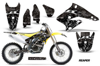Dirt Bike Graphics Kit Decal Sticker Wrap For Suzuki RMZ250 2004-2006 REAPER BLACK