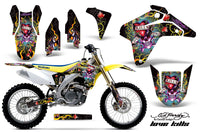 Dirt Bike Graphics Kit Decal Sticker Wrap For Suzuki RMZ450 2005-2006 EDHLK BLACK